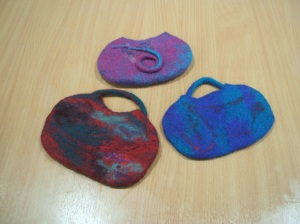 Wonderful bags made by novice felters!