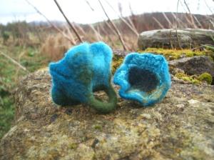 Blue felt rings