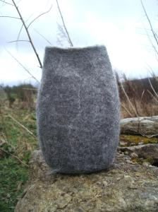 Margaret's natural felt vessel