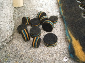 Punched felt beads
