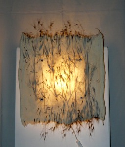Wall lamp with grasses