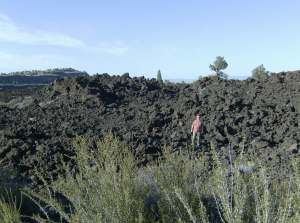 Alan among the lava beds