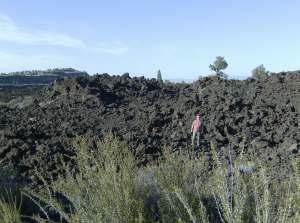 Alan among the lava beds