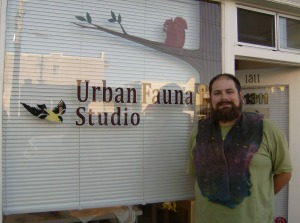 Blas outside Urban Fauna Studio