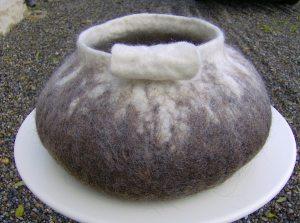 Large felt vessel