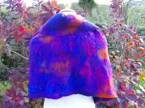 Silk, merino and cotton gauze wrap