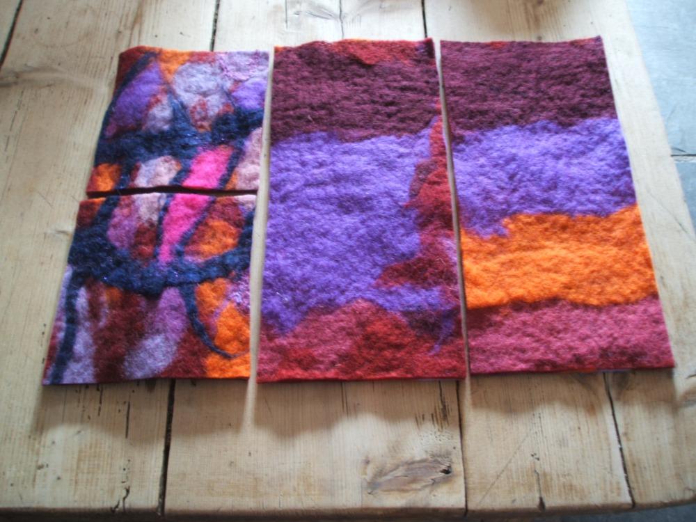 Variations on a felt slipper (another tutorial) and announcing felting workshop for Mullingar! (1/4)