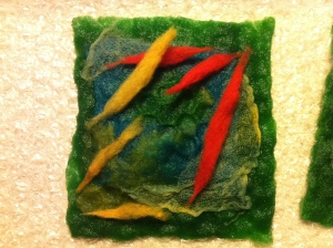 Little brooch ready to felt