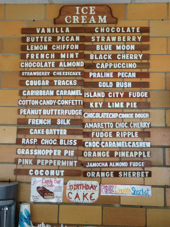Yummy flavours at Plainwell Ice Cream!