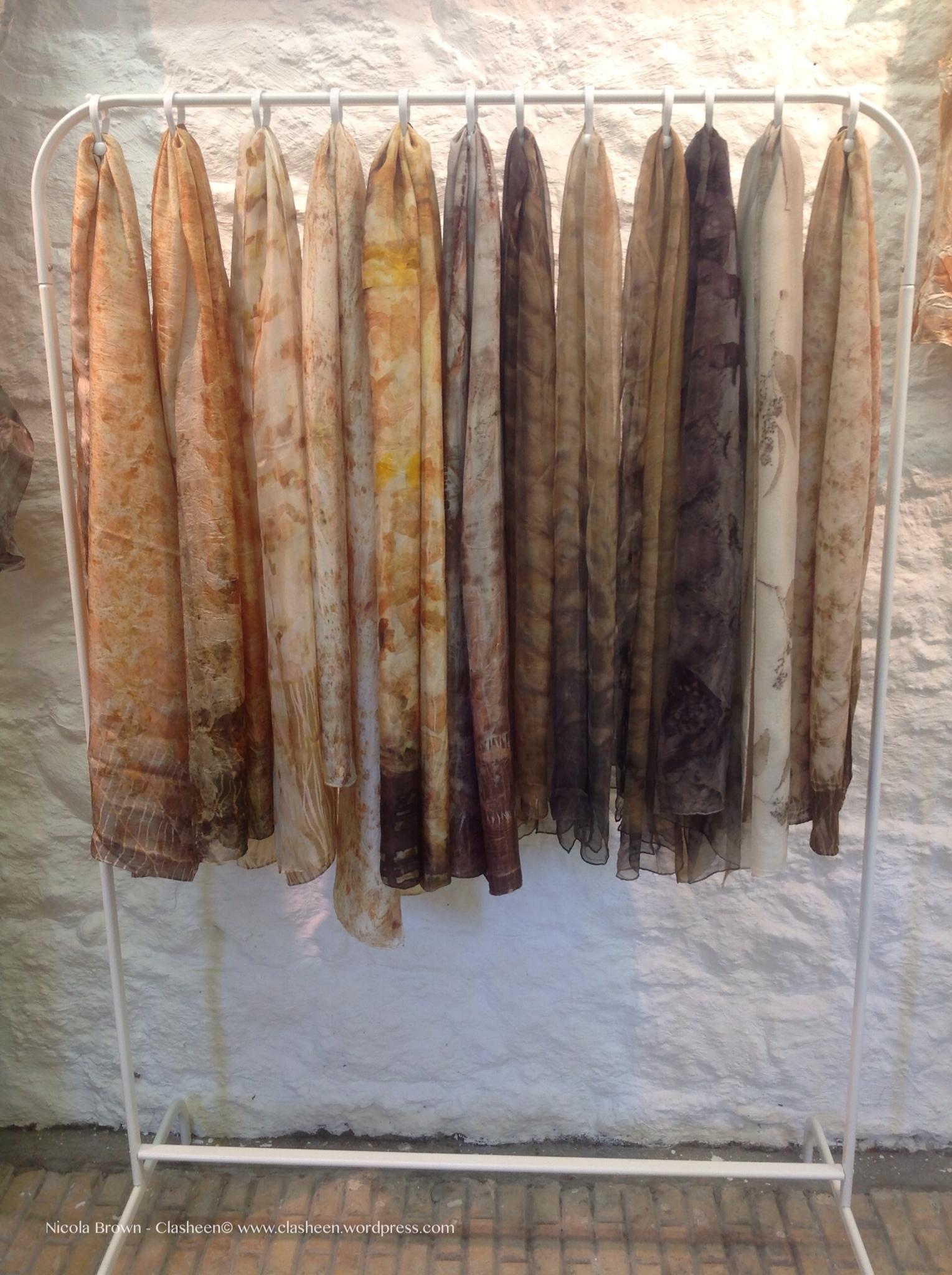 Craft Fair And Studio Scarf Display Diy Nicola Brown Fine Art Textiles