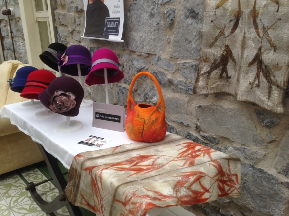 A selection of my felt and beautiful hats from Highbury Designs at Ennis Creative Arts Centre