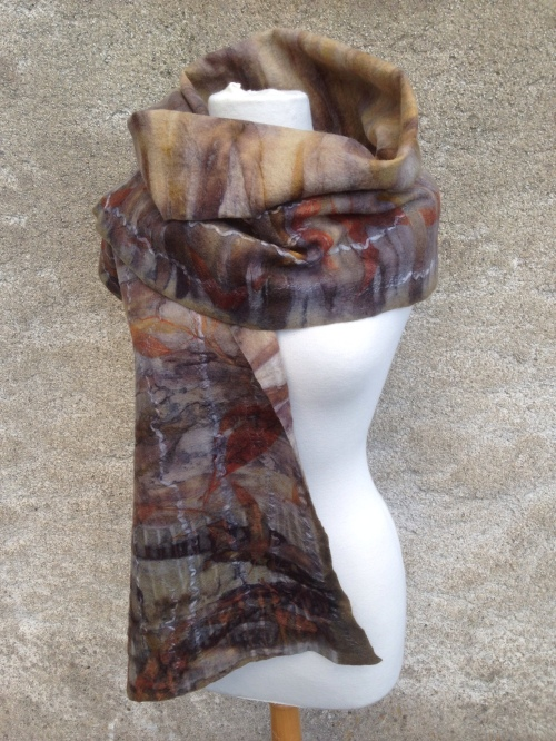 Eco printed wrap by Nicola Brown